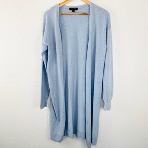 Ann Taylor wool baby blue duster cardigan medium